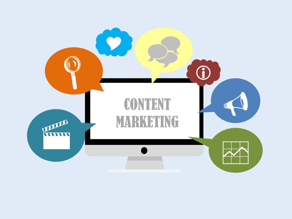 Content Marketing on screen  - content 3679757 1920 1024x768 - How quality content relates to SEO success